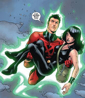 Julian Keller (Earth-616) and Laura Kinney (Earth-616) from New X-Men Vol 2 34 0001