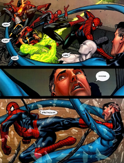 Reed Richards (Earth-616) Peter Parker (Earth-616) Civil War Vol 1 7