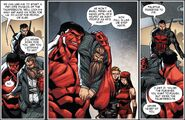 Thunderbolts (Red Hulk) (Earth-616) and Johann Fennhoff (Earth-616) from Thunderbolts Vol 2 27 001
