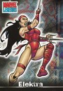 Elektra Natchios (Earth-616) from Marvel Legends (Trading Cards) 0001