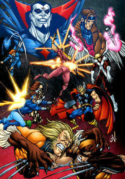 Mutant Massacre from Blockbusters of the Marvel Universe Vol 1 1 001