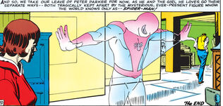 Peter Parker (Earth-616) Spider-Man comes between Peter and Betty from Amazing Spider-Man Vol 1 30