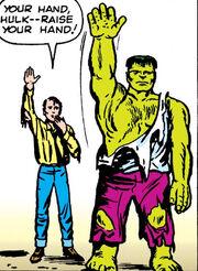 Richard Jones (Earth-616) and Bruce Banner (Earth-616) from Incredible Hulk Vol 1 3 001