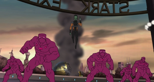 Samuel Sterns (Earth-12041) and Humanoid (Leader) from Marvel's Avengers Assemble 001