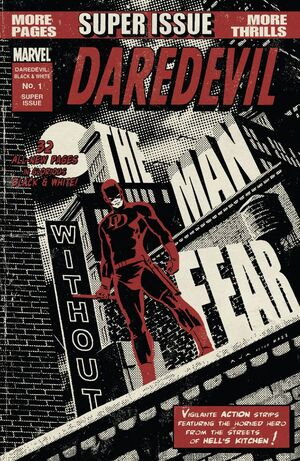 Daredevil Black and White Vol 1 1 Textless