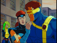 Lorna Dane (Earth-92131), Jean Grey (Earth-92131), and Scott Summers (Earth-92131) from X-Men The Animated Series Season 5 2 001