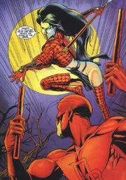 Matthew Murdock (Earth-7642) and Ana Ishikawa (Earth-7642) from Daredevil Shi Vol 1 1 001