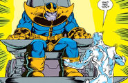 Thanos (Earth-616) and Norrin Radd (Earth-616) from Silver Surfer Vol 3 34 0001