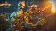 Groot (Earth-TRN517) and 89P13 (Earth-TRN517) from Marvel Contest of Champions 001