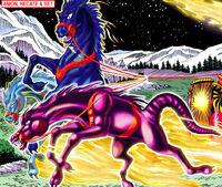 Hellstorm's Demon-Steeds (Earth-616) from Marvel Pets Handbook Vol 1 1 0001