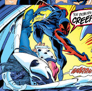Miguel O'Hara (Earth-928) and Vulture (Snidely) (Earth-928) from Spider-Man 2099 Vol 1 7 001