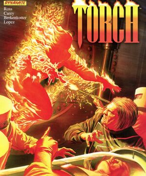 Thomas Raymond (Earth-616) and Mad Thinker (Julius) (Earth-616) from Torch Vol 1 2 Cover