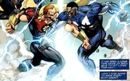 Adam Brashear (Earth-616) and Mark Milton (Earth-4023) from Age of Heroes Vol 1 3 0001