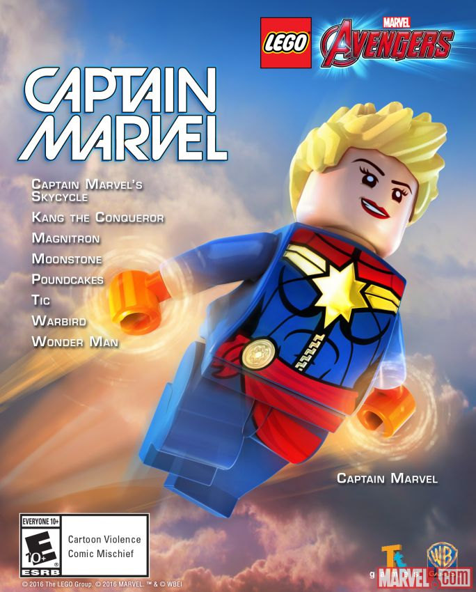 Spider Man Peter Parker In The Lego Incredibles Videogame: Carol Danvers (Earth-13122) From LEGO Marvel's