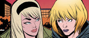 Gwendolyn Stacy (Earth-617) and Gwendolyn Stacy (Earth-65) from Spider-Gwen Vol 2 30