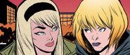 Gwendolyn Stacy (Earth-617) and Gwendolyn Stacy (Earth-65) from Spider-Gwen Vol 2 30
