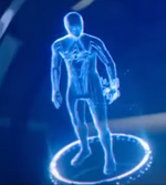 Spider Armor MK II Holographic schematics in Spider-Man Far From Home