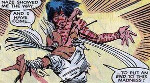 Storm steekt Forge neer, misleid door de Adversary (X-Men -224)