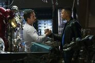 Anthony Stark (Earth-199999) and James Rhodes (Earth-199999) from Iron Man (film) 0001