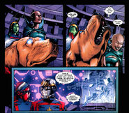 Cosmo (Dog) (Earth-616) and Guardians of the Galaxy (Earth-616) from Guardians of the Galaxy Vol 2 13 001