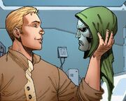 Henry Pym (Earth-616) and Doombot (Avenger) (Earth-616) from Age of Ultron Vol 1 10A.I. 001