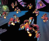 Iron Man Sentries (Earth-TRN591) from Generations Iron Man & Ironheart Vol 1 1 001