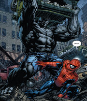 Peter Parker (Earth-1610) vs. Bruce Banner (Earth-1610) from Ultimatum Vol 1 2 0001