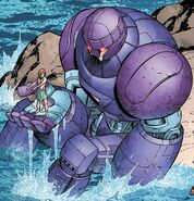 Juston Seyfert (Earth-616) and Sentinel (Juston) (Earth-616) from Avengers Academy Vol 1 31 0001