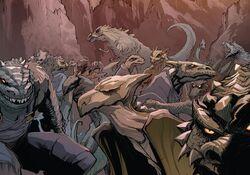 Dinosaur-People (Earth-616) from Venom Vol 1 151 001