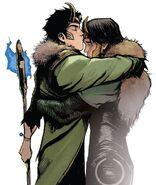 Loki Laufeyson (Ikol) (Earth-616) and Loki Laufeyson (Ikol) (Earth-14412) from Loki Agent of Asgard Vol 1 17 001
