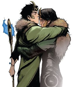Loki Laufeyson (Ikol) (Earth-616) and Loki Laufeyson (Ikol) (Earth-14412) from Loki Agent of Asgard Vol 1 17 001