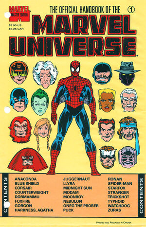 Official Handbook of the Marvel Universe Master Edition Vol 1 1