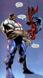 Peter Parker (Earth-7642) and Thomas John McCall (Earth-7642) from Spider-Man Badrock Vol 1 1 001
