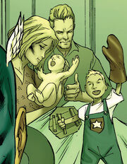 Steven Rogers (Earth-616), Sarah Rogers (Earth-616), and Joseph Rogers (Earth-616) from New Avengers Vol 1 43 001