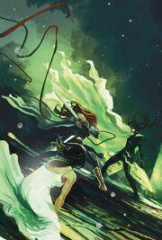 Aldrif Odinsdottir (Earth-616) vs. Hela (Earth-616) from Angela Queen of Hel Vol 1 5 001