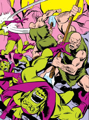 Deviant Skrulls and Kree from Avengers Vol 1 133 001