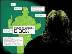 Matthew Murdock (Earth-616) and Mad Thinker (Julius) (Earth-616) from Daredevil Road Warrior Infinite Comic Vol 1 3