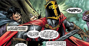 Percival of Scandia (Earth-616) and Mordred (Earth-616) from Mystic Arcana Black Knight Vol 1 1 0001