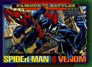 Peter Parker (Earth-616) and Edward Brock (Earth-616) from Marvel Universe Cards Series IV 0001