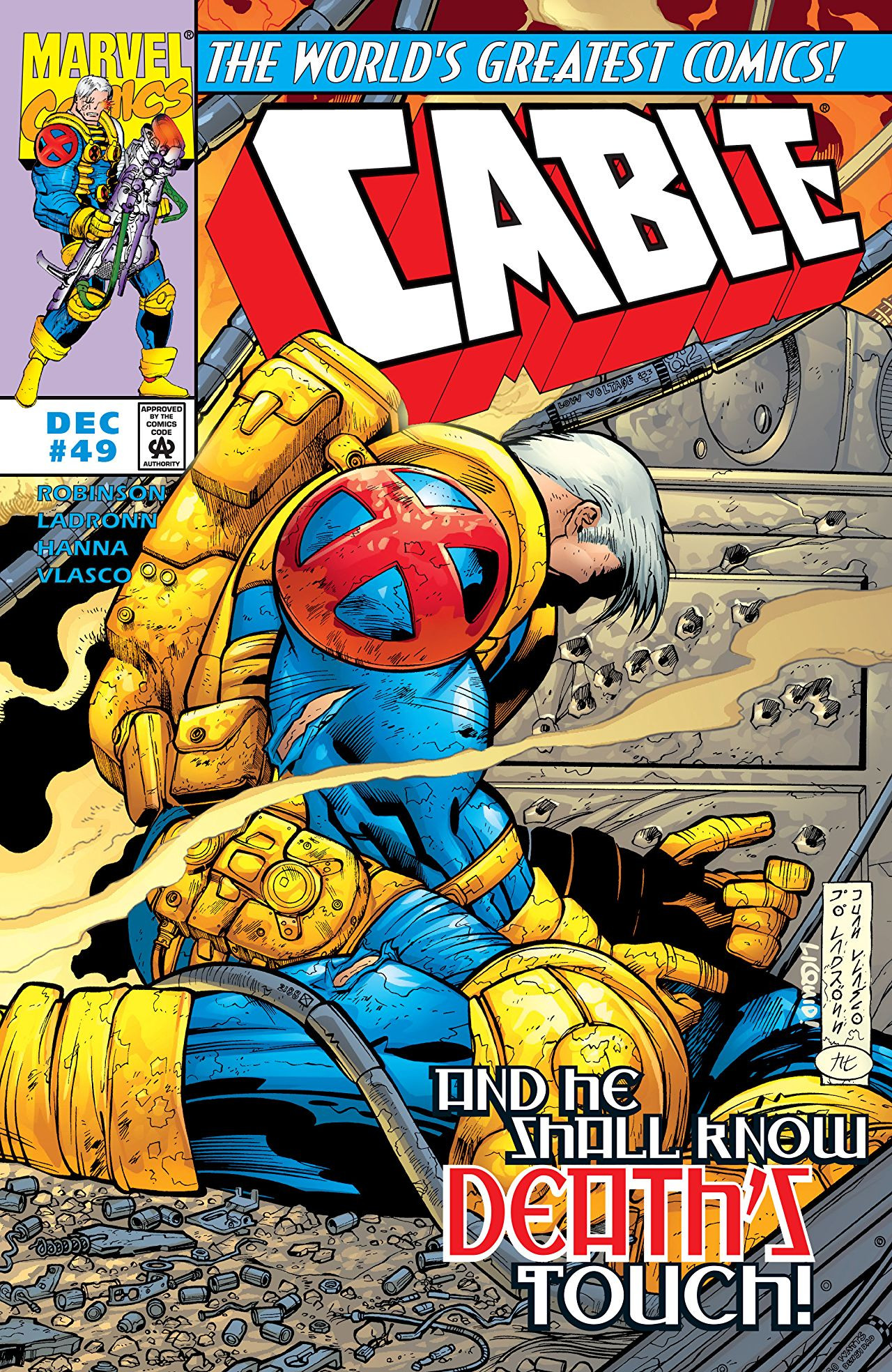 Collectibles Cable Comic Issue 48 Modern Age First Print 1997 Robinson Ladronn Vlasco Marvel Modern Age (1992-now)