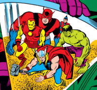 Avengers (Earth-689) from Avengers Annual Vol 1 2 001