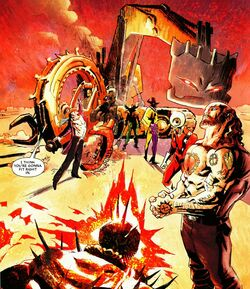 Ghost Rider Assassination League (Earth-616) from Ghost Riders Heaven's on Fire Vol 1 2 001