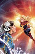 Mighty Captain Marvel Vol 1 8 Marvel vs. Capcom Variant Textless