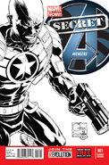Secret Avengers Vol 2 1 Quesada Sketch Variant