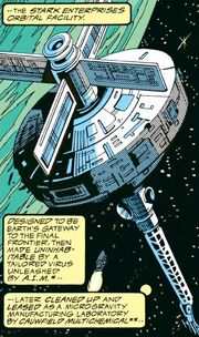 Stark Space Station from Iron Man Vol 1 294 001
