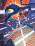 Reed Richards (Earth-616) from Marvel Masterpieces (Trading Cards) 1994 Set 0001
