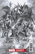 Marvel Legacy Vol 1 1 Ross Black and White Variant