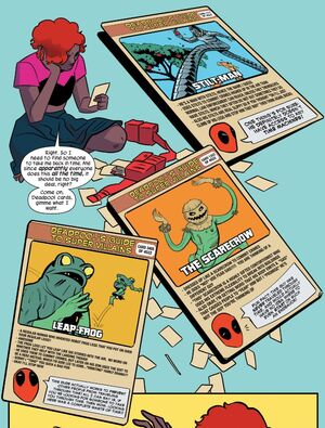 Nancy Whitehead (Earth-616) with Deadpool's Guide to Super Villains Cards from Unbeatable Squirrel Girl Vol 2 2