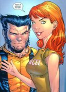 Mary Jane Watson (Earth-616) and James Howlett (Earth-616) from Marvel Knights Spider-Man Vol 1 13 0001