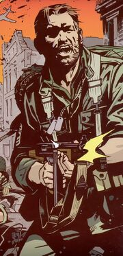 Nicholas Fury (Earth-616) in Yugoslavia circa 1942 from Sgt Fury and his Howling Commandos Vol 2 1 Cover